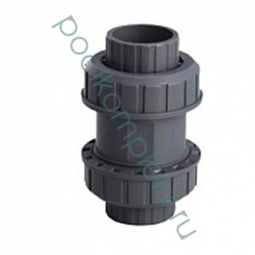 Клапан обратный ПВХ 1-муфтовый (без пружины)
