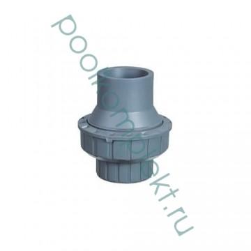 Клапан обратный ПВХ 1-муфтовый подпружиненный