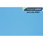 Плёнка ПВХ Haogenplast Unicolors Blue 8283 (синяя) ребристая