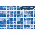 Плёнка ПВХ Haogenplast Print Snapir NG Blue/Ocean (синяя мозаика) ребристая 1.65 x 10 м